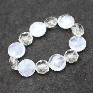 3F25 Clear Crystal Gem Stretch Bracelet